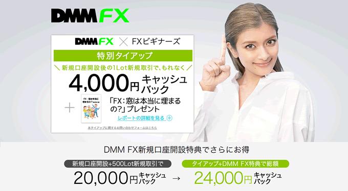 DMMFXとFXビギナーズの共同企画