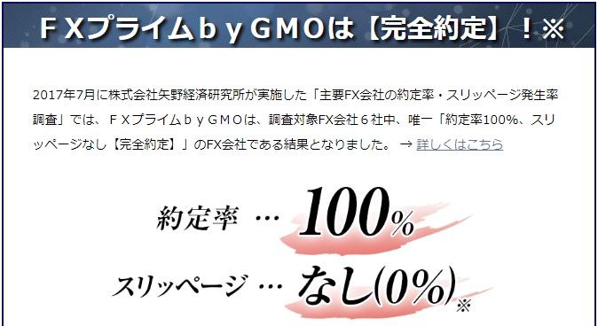 FXプライムbyGMO約定率