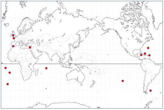 イギリスの海外領土地図